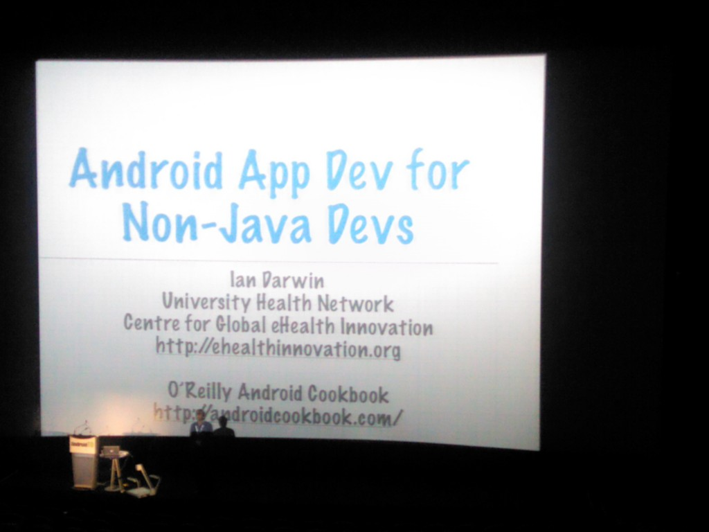 Ian Darwin on Writing Android Apps Without Using Java