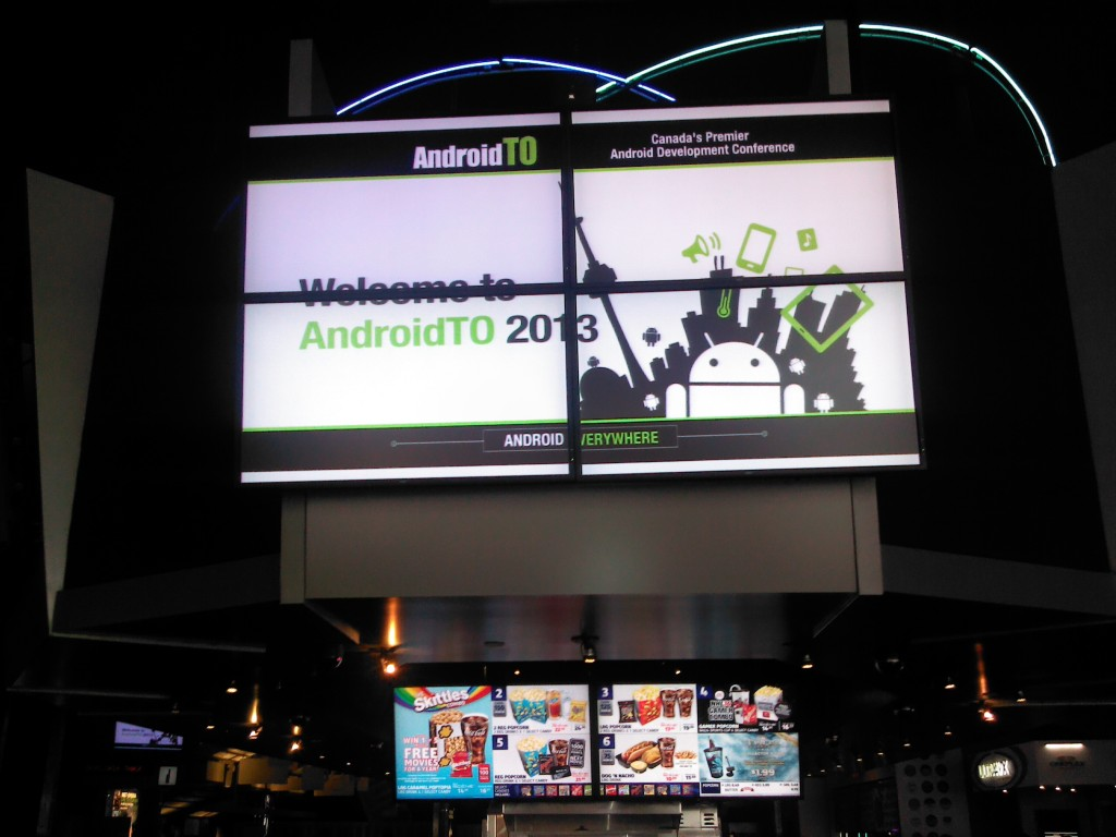 Being Welcomed to AndroidTO 2013