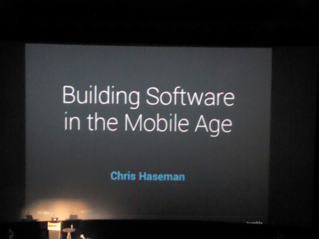 Shortly Before Chris Haseman of Tumblr Gave the Closing Keynote